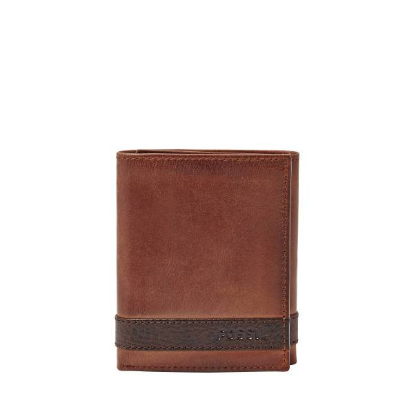 The Fossil Group Men's Fossil Leather Trifold Wallet