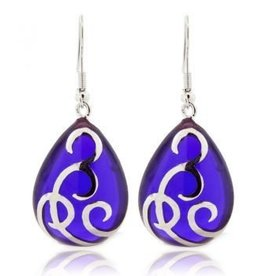 AHC Purple Teardrop Ballgown Earrings