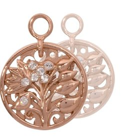 Nikki Lissoni Fantasy Tree' Rose Gold Earring Coins