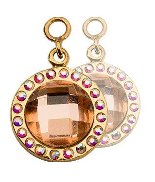 Nikki Lissoni Peach Mirror Glass Earring Coins - EAC2059GS