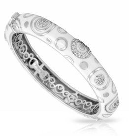Belle Etoile Galaxy White Italian  Enamel & Sterling Bangle