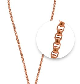 "Nikki Lissoni 19"" Rose Gold Plated Necklace"