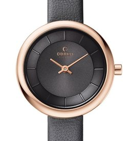 Obaku Watches Women's Stille -  Pebble Leather & Rose Gold