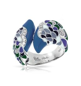 Belle Etoile Love in Plume Blue & Sterling  Ring - Sz 7