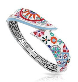 Belle Etoile Pashmina Italian Enamel & Sterling Bangle