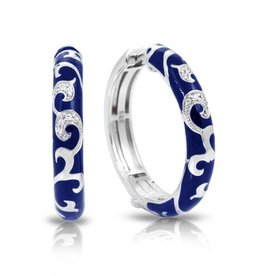 Belle Etoile Royale Hoops Blue & Sterling Silver