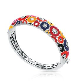 Belle Etoile Nova Red Sterling Silver Bangle