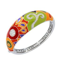 Belle Etoile Paisley Italian Enamel & Sterling Bangle