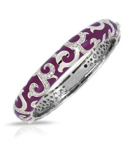 Belle Etoile Royale Dark Orchid Sterling Bangle