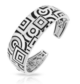 Belle Etoile Geometrica talian Enamel & Sterling Bangle