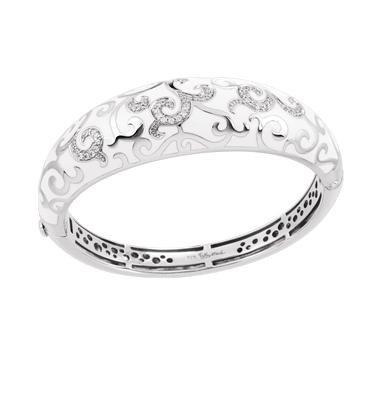 Belle Etoile Belle Étoile Royale White Sterling Silver Bangle