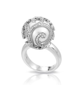 Belle Etoile Beauty Bound Caged Pearl Ring - Size 7