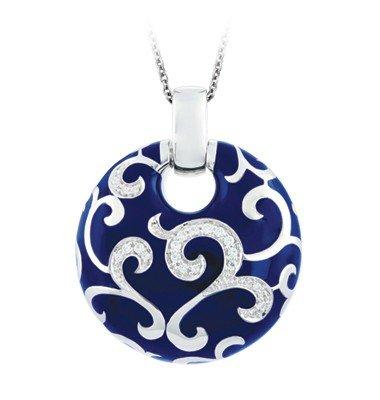 Belle Etoile Belle Étoile  Royale Blue Italian Enamel & Sterling Pendant