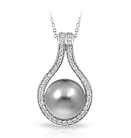 Belle Etoile Claire Collection Gray Pearl Pendant