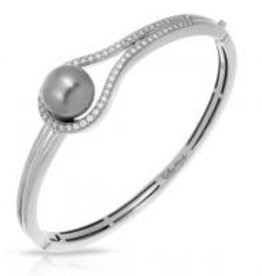 Belle Etoile Claire Collection Gray Pearl Bangle