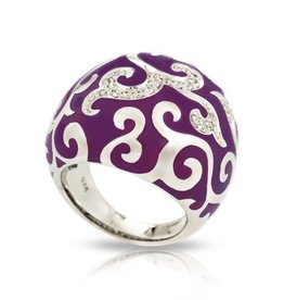 Belle Etoile Royale Dark Orchid Ring - Size 8