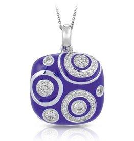 Belle Etoile Galaxy Iris Blue Enamel Pendant
