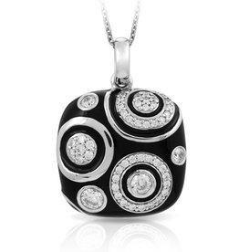 Belle Etoile Galaxy Black Italian Enamel Pendant