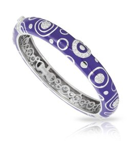 Belle Etoile Galaxy Iris Blue Italian Enamel Bangle