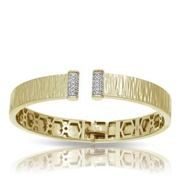 Belle Etoile Heiress 18K Gold  Vermeil Bangle