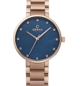 Obaku Watches Women's Glad - Lapis &  Rose Gold