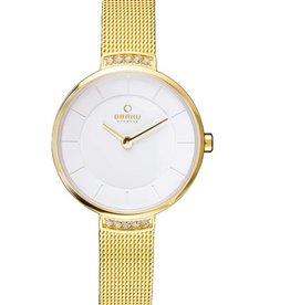 Obaku Watches Women's Varm - Gold with White Dial