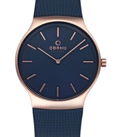 Obaku Watches Men's Rolig - Ocean & Rose Gold