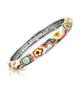 Belle Etoile Fiesta Italian Enamel & Sterling Bangle