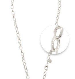 "Nikki Lissoni 18"" Silver Plated Chain Necklace"