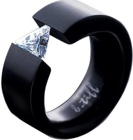 B. Tiff New York Black Stainless  Signity Star Ring - Sz. 6