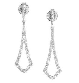 Sterling Silver Micro Pave Earrings