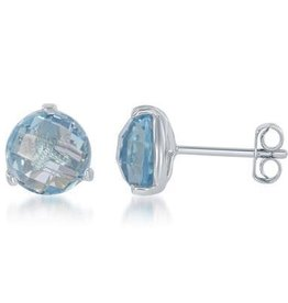 Sterling silver & Blue Topaz Earrings