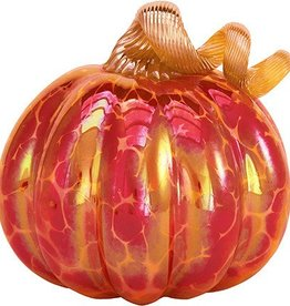 Royal Red Glass Pumpkin - Med.