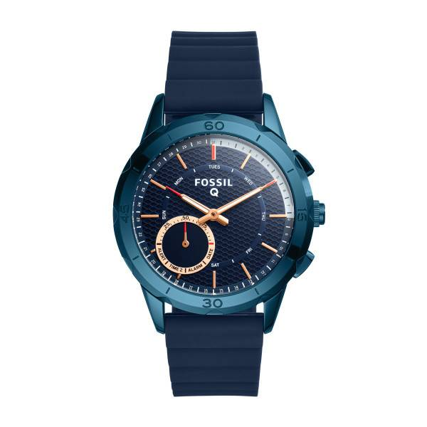 The Fossil Group HYBRID SMARTWATCH - Q MODERN PURSUIT NAVY BLUE SILICONE
