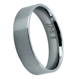 B. Tiff New York Brushed Stainless Steel Band - Size 6