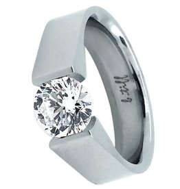 B. Tiff New York Stainless Steel Signity Star Ring  - Size 6