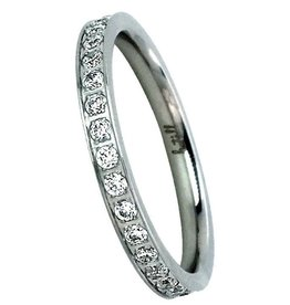 B. Tiff New York Stainless Eternity Band
