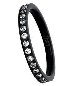 B. Tiff New York Black Eternity Band - Size 7