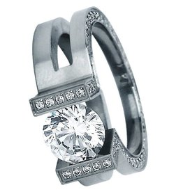 B. Tiff New York Elegant Stainless Steel Ring - Size 7