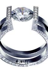 B. Tiff New York Elegant Stainless Steel Ring