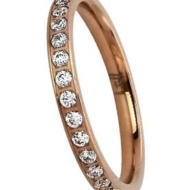 B. Tiff New York 18K Rose Gold Plated Eternity Ring
