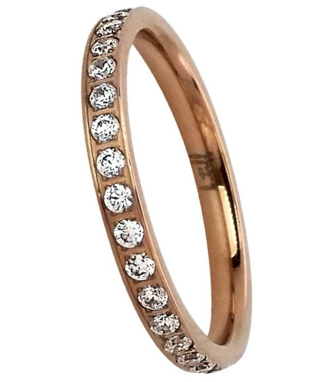 B. Tiff New York 18K Rose Gold Plated Eternity Ring