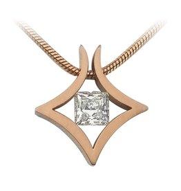 B. Tiff New York Rose Gold Plated Natal Pendant & Chain