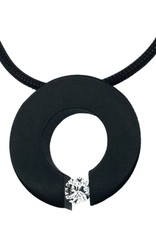 B. Tiff New York Malfinia Black Stainless Steel Pendant