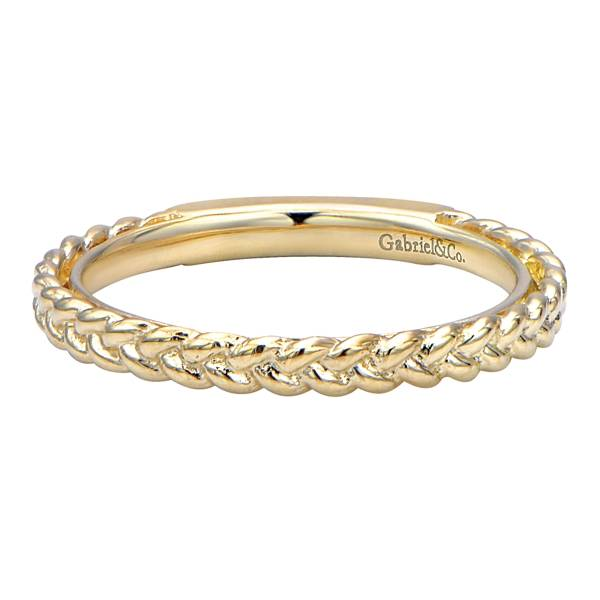 d4b731b84 Gabriel & Co. Gabriel 14K Yellow Gold Braided Wedding Band - Golden ...