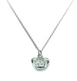 Coles of London Dog Fever Sterling Silver Pug Pendant Necklace