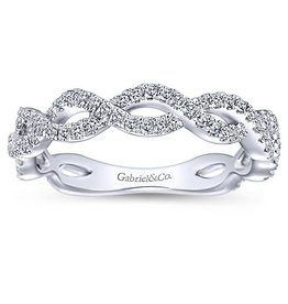 Gabriel & Co. 14K Twisted Diamond Band .52 ctw