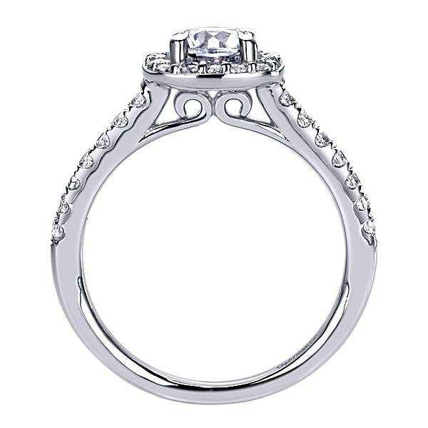 Gabriel & Co. Gabriel 14K Halo Ring Mount .38 ctw