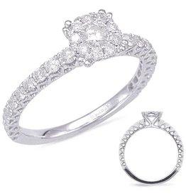 S. Kashi 14K Engagement Ring .69 CTW