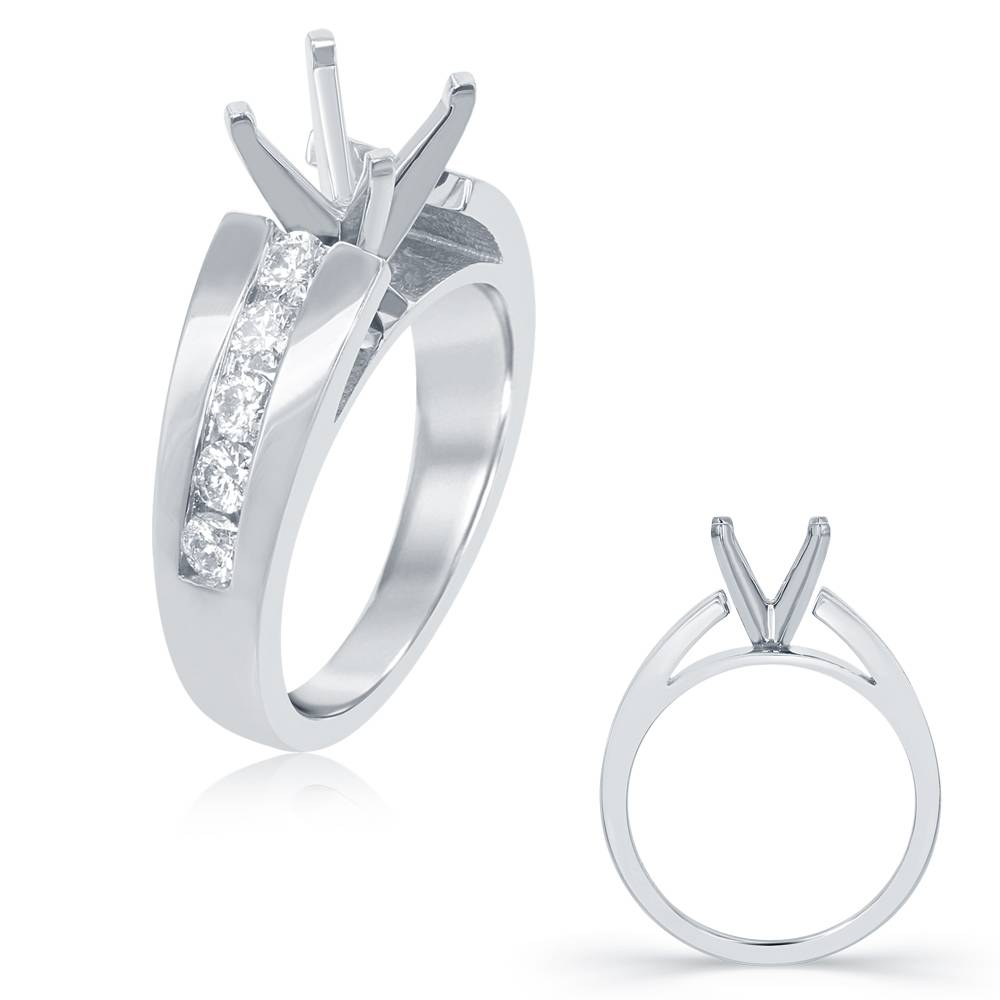 S. Kashi S. Kashi White Gold Engagement Ring Mount